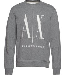 ax man sweatshirt sweat-shirt trui grijs armani exchange