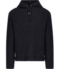 drawstring hood sweater