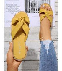 twist design open toe slippers