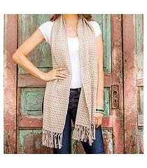 cotton scarf, 'natural combination' (guatemala)
