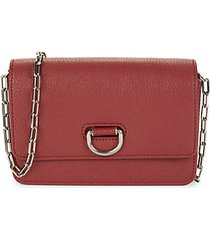 hayes d-ring leather crossbody bag