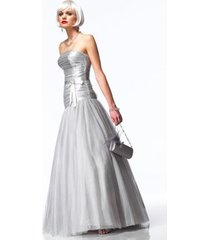 sexy strapless alyce prom evening corset gown dress, sizzling silver or gold