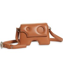 off-white burrow 22 leather shoulder bag - brown