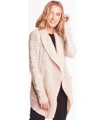 beżowy sweter z kieszeniami edith