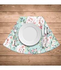 jogo americano para mesa redonda wevans flowers premium kit com 6 pçs