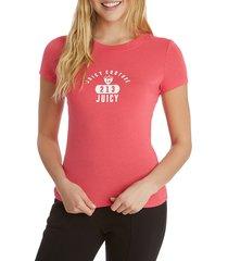 juicy couture women's la logo t-shirt - bleached wash - size xs