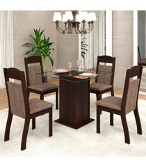 mesa de jantar 4 lugares mirela zara ameixa/malta - viero móveis