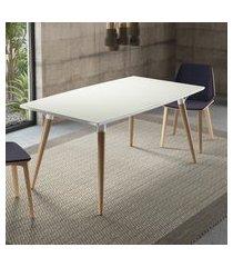 mesa de jantar 4 lugares artesano valentinna branco fosco