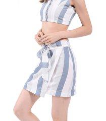 falda rayas envolvente blanco/azul nicopoly