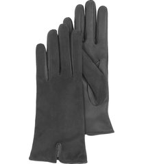 forzieri designer women's gloves, black touch screen leather women's gloves