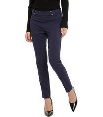 pantalón ash liso azul - calce ajustado