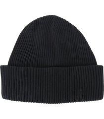 ssheena chunky ribbed knit beanie - black