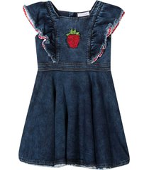 denim dress with ruffles