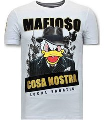 t-shirt korte mouw local fanatic stoere cosa nostra mafioso