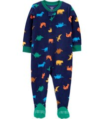 carter's big boy 1-piece dinosaur fleece footie pjs