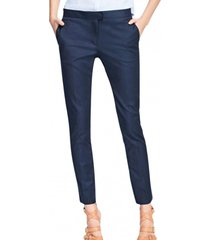 pantalon flat-front chinos azul brooks brothers
