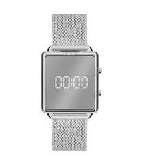 relógio digital euro feminino - eujhs31bal4k prateado