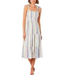 rip curl juniors' villa cotton striped midi dress