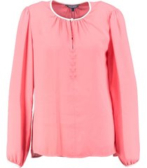 tommy hilfiger polyester blouse sugar coral