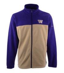 columbia washington huskies men's flanker jacket iii fleece full zip jacket