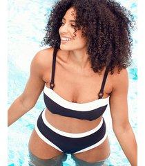icon riviera underwire bandeau bikini crop top c-g