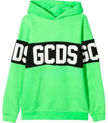 gcds mini fluorescent green sweatshirt