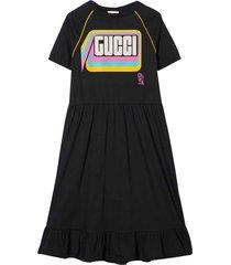 gucci dark grey flared dress