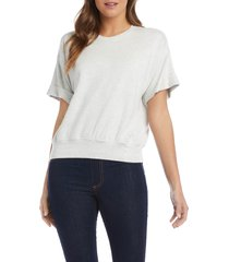 karen kane cuff sleeve pullover, size x-large in heather grey at nordstrom