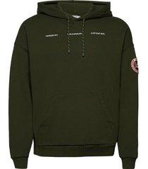 forest print hoodie hoodie trui groen holzweiler