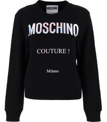 moschino holographic print sweatshirt