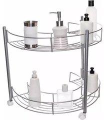 carrinho para banheiro metaltru eco metalic aramado 2 andares