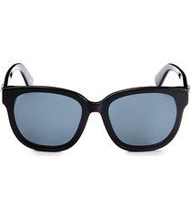moschino women's 63mm square sunglasses - black