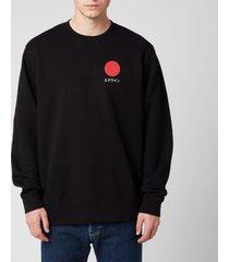 edwin men's japanese sun sweatshirt - black - xl