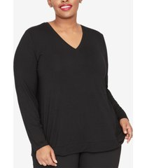 rachel rachel roy trendy plus size zipper-back top