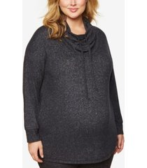motherhood maternity plus size cowl-neck sweatshirt