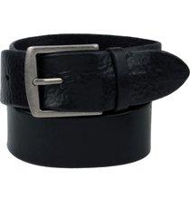 men's frye pebbled leather belt, size 38 - black