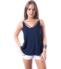 regata tirinhas up side wear azul