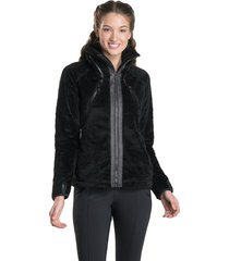 kuhl flight jacket, black/brown, large