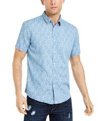 sun + stone men's printed shirt, created for macy's