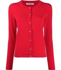 twin-set slim-fit knit cardigan - red