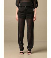 emporio armani pants emporio armani trousers in metallic lurex fabric