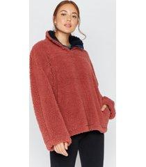 thread supply quarter snap sherpa pullover