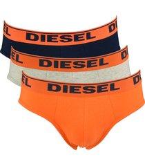 diesel slips 3-pak andre oranje grijs blauw