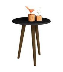 mesa lateral brilhante preto fosco móveis bechara