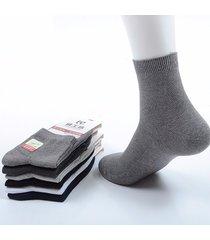 tubo in cotone da uomo traspirante, tinta unita, business casual, tubo corto calze