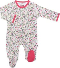 baby girl berry happy magnetic footie one piece