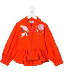 raspberry plum sweetie embroidered top - orange