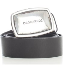dsquared2 belt w/silver buckle dsquared plaque
