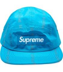 supreme logo patch camp cap - blue