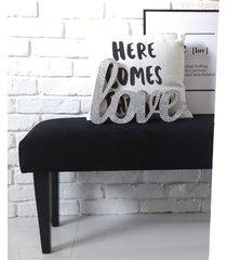 ławka ławeczka puf tapicerowana czarna na wymiar